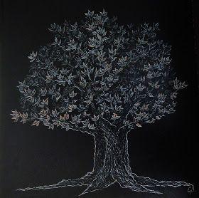Arbol de la Vida X, tallografía, 40 x 43 cms.