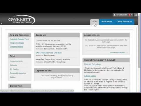 Gwinnett Technical College Blackboard Login instruction