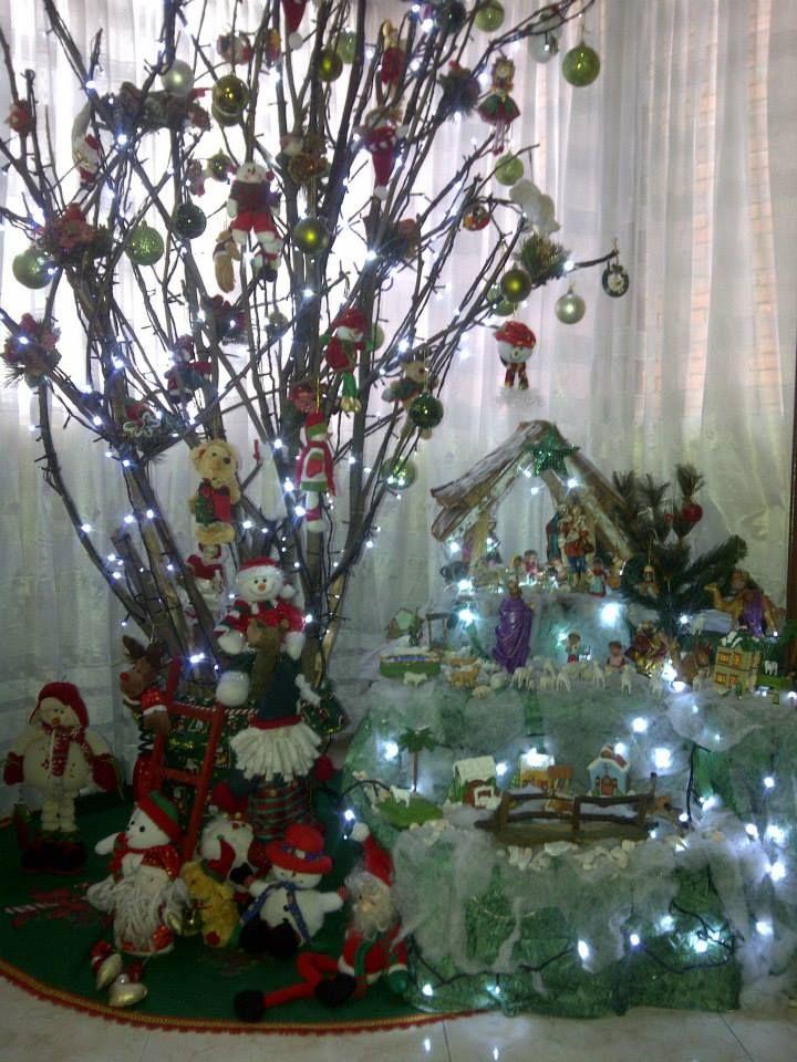 Arbol de navidad de chamizo