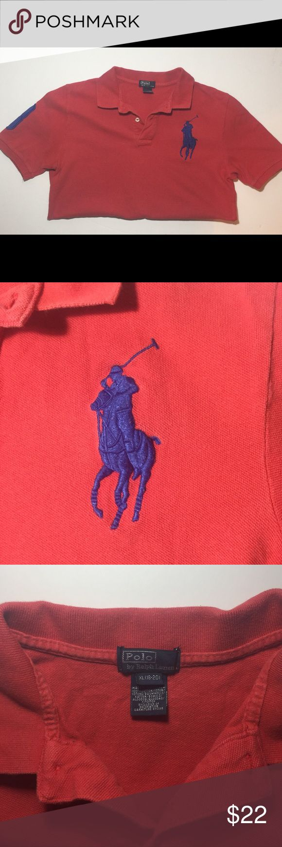 Polo by Ralph Lauren Collared Polo Shirt(XL 18-20) Polo by Ralph Lauren Collared Polo Shirt(XL 18-20). This shirt is in great condition. No stretching, no stains and no odors. Polo by Ralph Lauren Shirts & Tops Polos