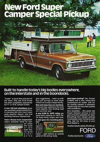 1973 Ford Super Camper Special Pickup
