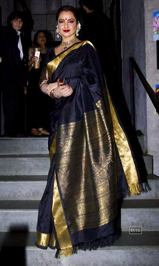 Rekha in Kanjivaram still looking beautiful.