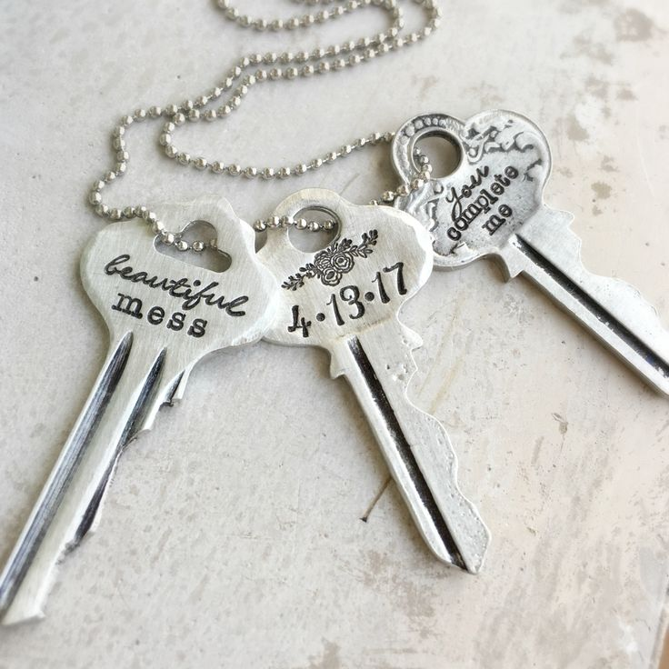 Meaningful Keys...  Choose your own design and wording.