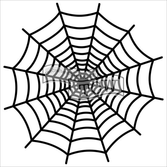 Crafters Workshop Mini 6x6 Template Spiderweb