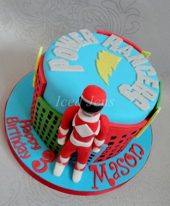 Power Rangers Cake Novelty Cakes Pinterest Power
