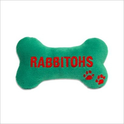 NRL Rabbitohs Chew Toy with Squeaker C A Australia