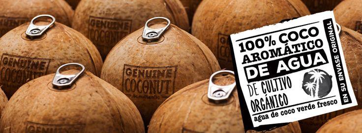 Agua de coco 100% aromático de cultivo orgánico. #Aguadecoco verde fresco en su envase original