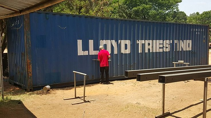 Container on arrival