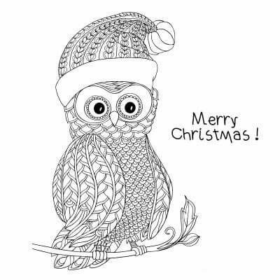 17 best images about adult colouring books   related on pinterest owl  heart and color me Owl Coloring Pages Christmas Color by Number  Christmas Owl Coloring Page