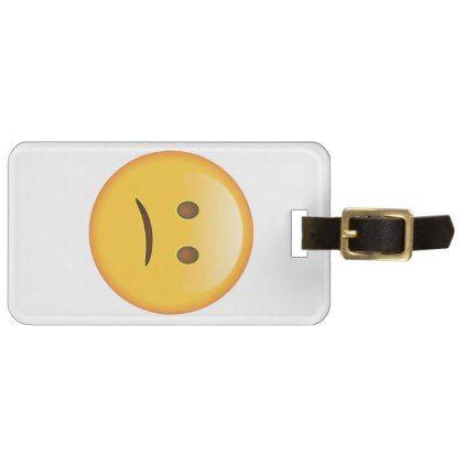 #Confused Face - Emoji Bag Tag - #luggage #tags