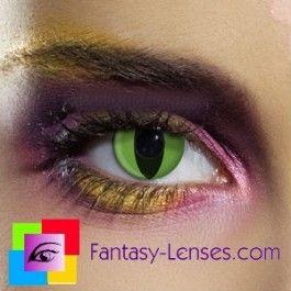 Farvede crazy kontaktlinser uden styrke katteøjne grønne sjove farvede linser uden styrke med motiv Camouflage LentillasContactoColor.com