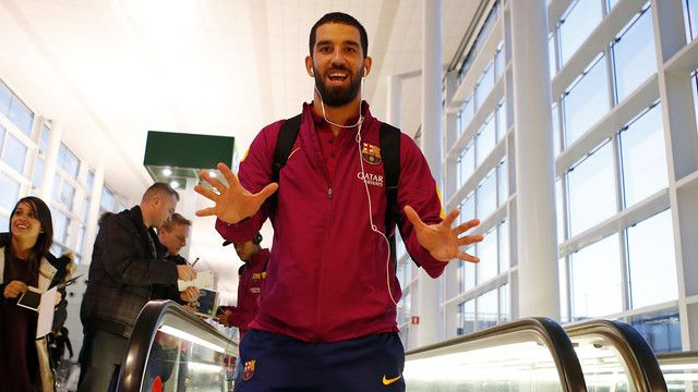 FC Barcelona en route to Canary Islands