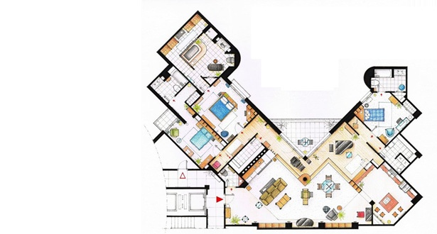 Frasier's floorplanFrasier Apartments, Floors Plans, Frasier Cranes, Tv Show, Floor Plans, Floorplans, Tvs, Bays Towers, Alister Lizarralde