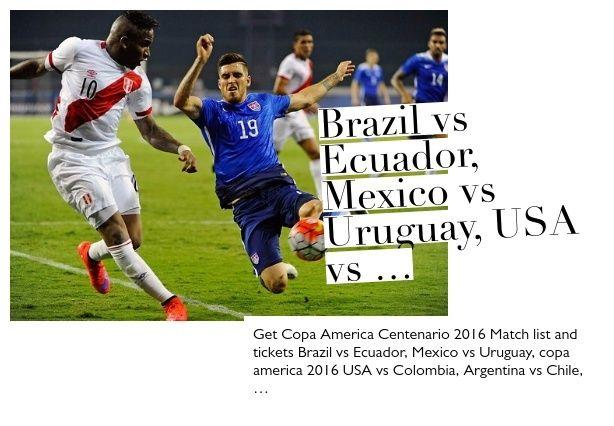 Brazil vs Ecuador, Mexico vs Uruguay, USA vs Colombia, Argentina vs Chile, Argentina vs Panama.