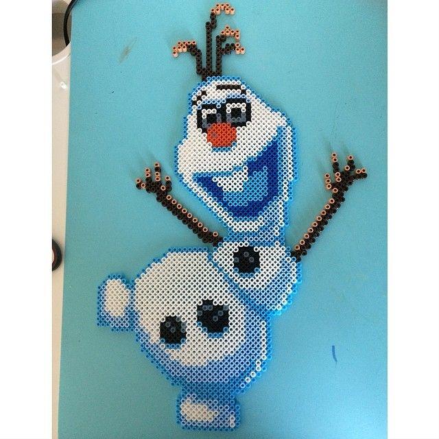 Olaf Frozen hama perler beads by emoli2