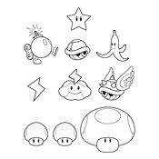 Coloring pages Mario Bros and Luigi (Nintendo)