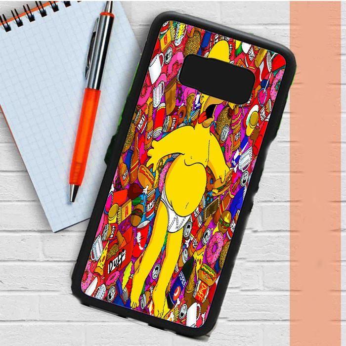 Homer Faint Simpson Cartoon Samsung Galaxy S8 Plus Case Dewantary