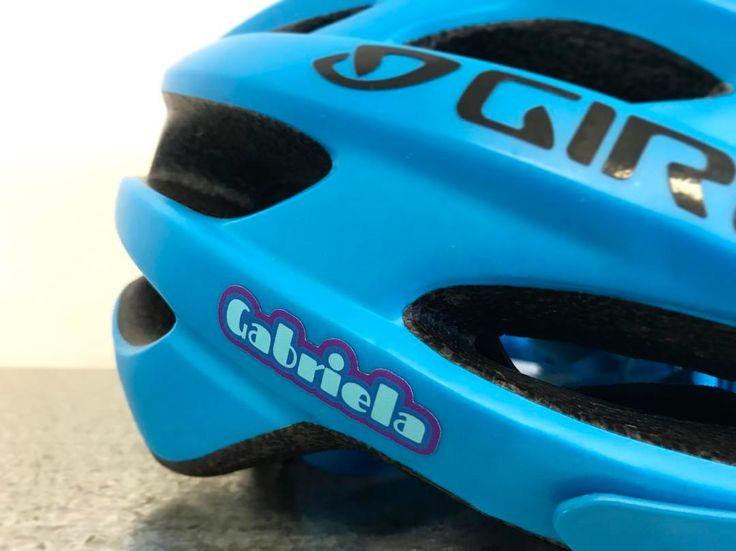 """yellow submarine"" sticker on a bike helmet"