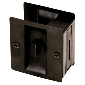 Design House Oil-Rubbed Bronze Pocket Door Privacy Hardware 202853 at The Home Depot - Mobile