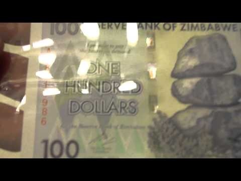 $100,000,000,000,000 Dollar bill.   100 TRILLION Zimbabwean dollar. INFLATION
