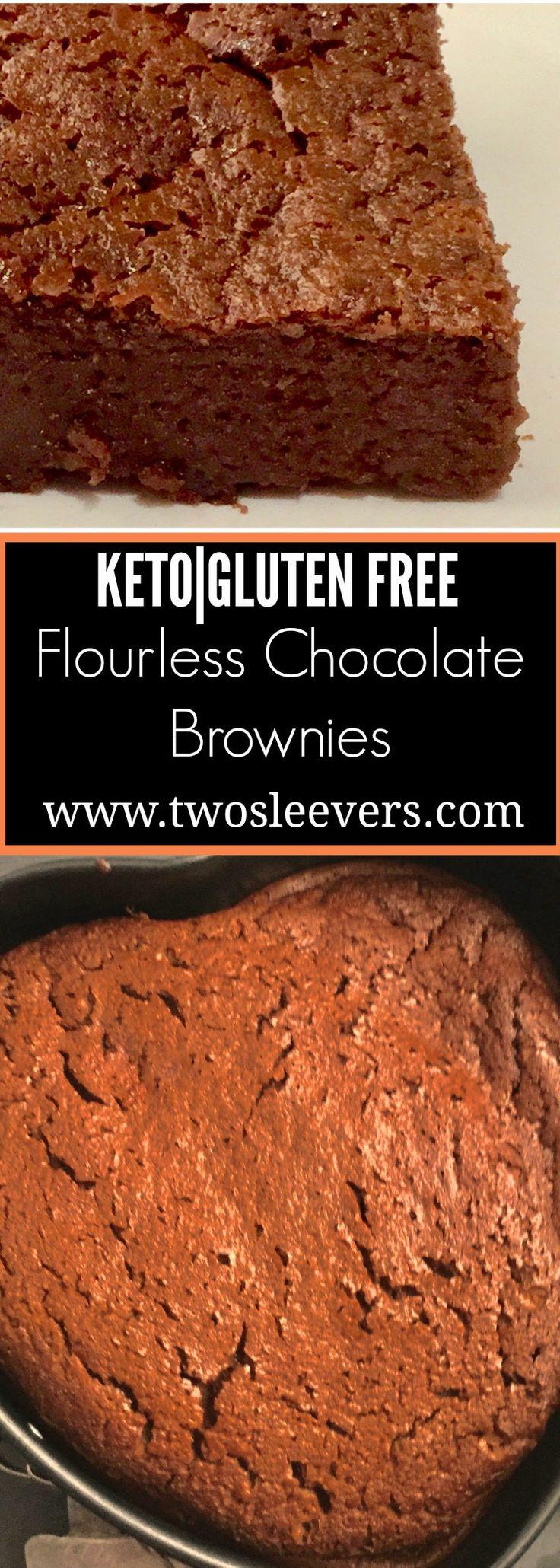 Five Ingredient Keto Flourless Chocolate Brownies - - https://twosleevers.com
