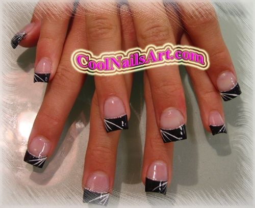 Best 25 white tip acrylic nails ideas on pinterest french tip black and white nail images nails design darkness nail art design from prinsesfo Images