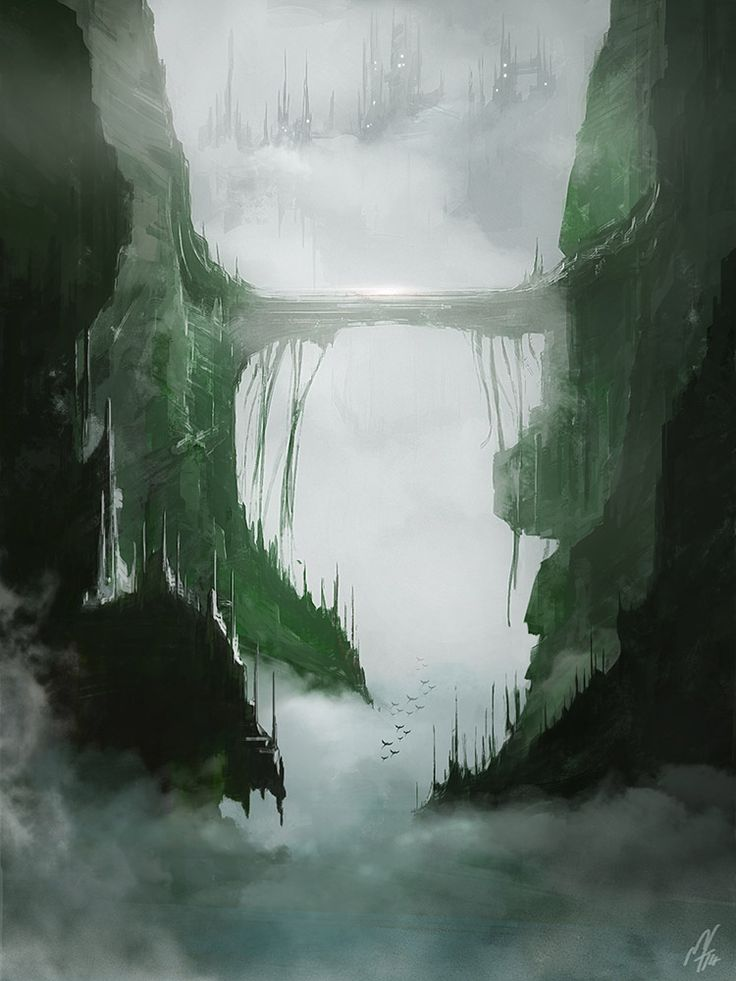 Misty Valley by Miguel Fonseca | Fantasy | 2D | CGSociety
