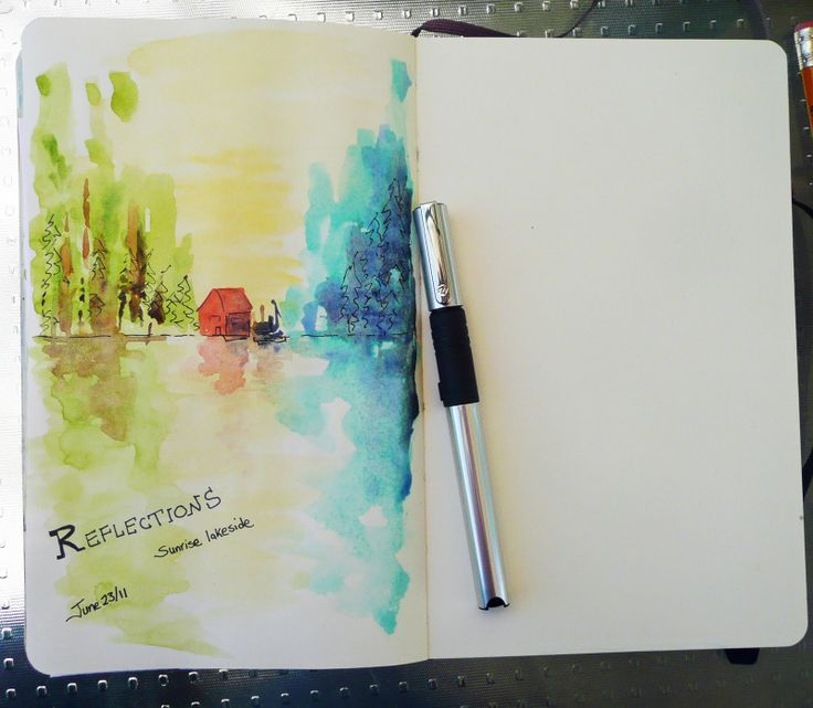 99 best watercolor art journal images on pinterest for Journal painting ideas