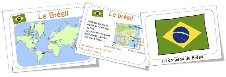 Le Brésil : diaporama et fiches DDM … avec Loup ! | Bout de Gomme