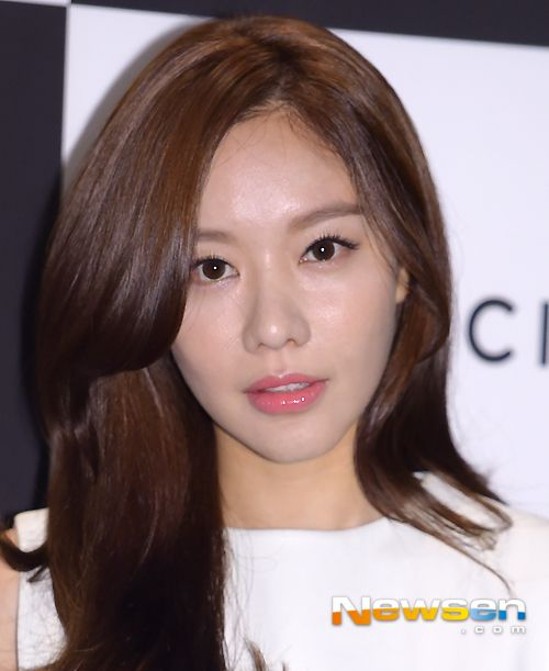 Kim Ah Joong at the Vidi Vici makeup brand event on July 24, 2014