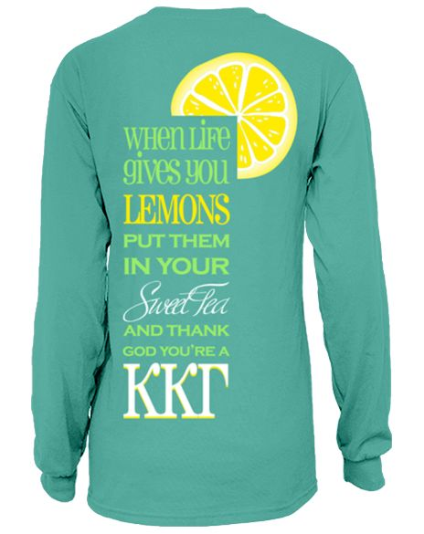When life gives you lemons, put them in your sweet tea and thank god you're a KKG