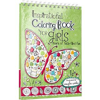 Inspirational Coloring Book For Girls Hours Of Faith Filled Fun Illustrator Amylee Weeks Has Combined Her Trademark Style Artistry With Biblical Verses