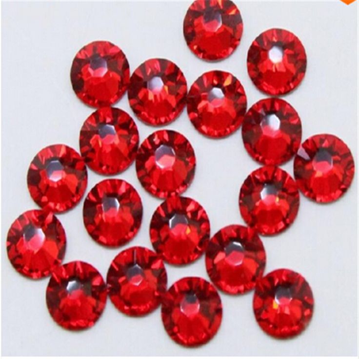 Super Shiny 1440p ss6 2mm Non Hotfix Rhinestone Dark Red Crystal Dark Siam Rhinestones for Nails 3D Nail Art Decoration DIY Bead