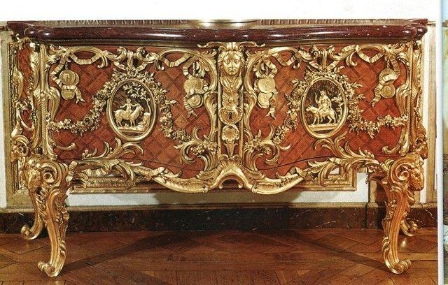 M dailler de gaudreau versailles mobiliers et objets - Meuble louis xv ...