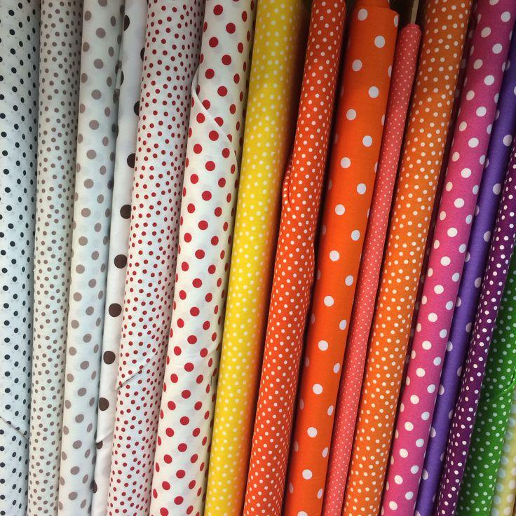 Fabrics with polka dot
