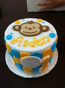 Mod monkey baby shower cake with matching cupcakes | Flickr - Photo ...