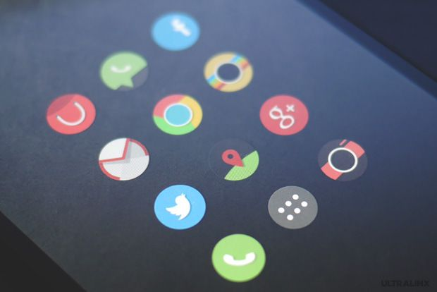 Flatro 2 Flatro   Flat Rounded Icons Android Theme