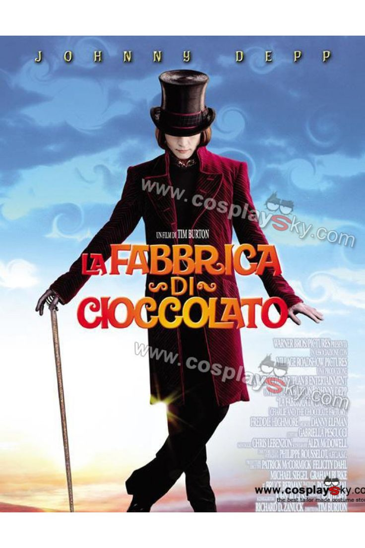 Johnny Depp Willy Wonka Charlie and the Chocolate Factory Jacket Costume-3