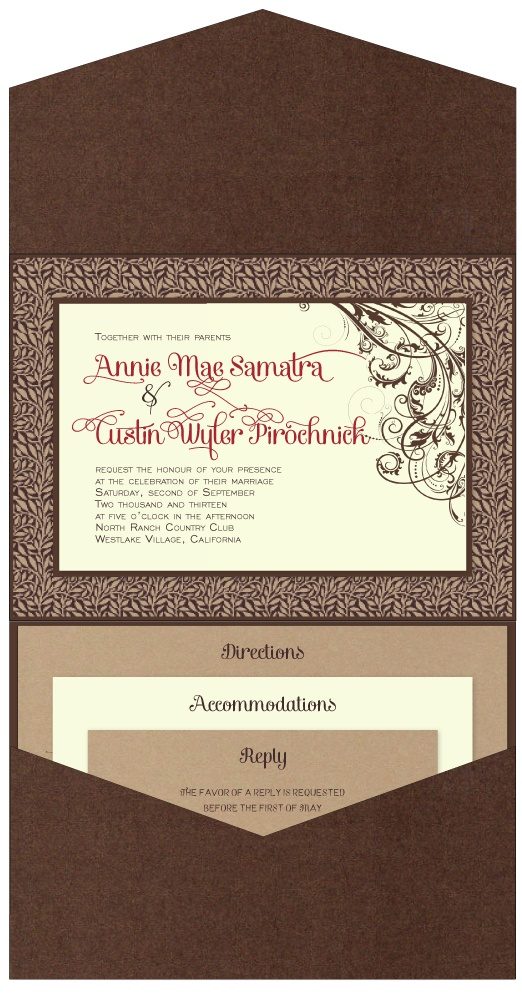 43 best Pocket Fold Wedding Invitations images on Pinterest ...