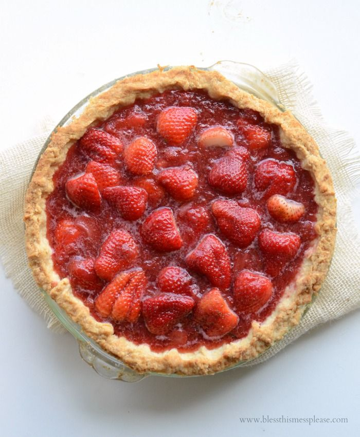 America's Test Kitchen's Fresh Strawberry Pie AKA springs perfect dessert!