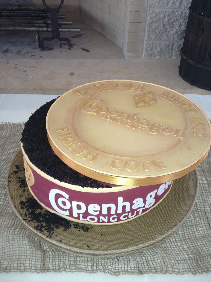 Copenhagen Groom's Cake - Chocolate cake with alternating circles of amaretto buttercream and Bavarian cream...this cake was a hit all the way around!