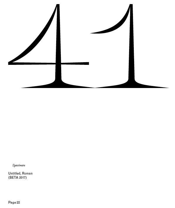 Untitled Typeface on Behance