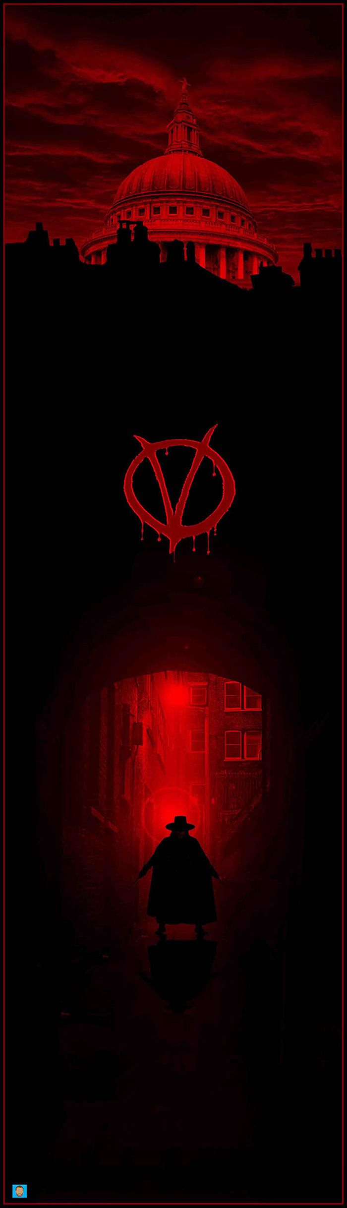V for Vendetta by Conor Murphy - Home of the Alternative Movie Poster -AMP-