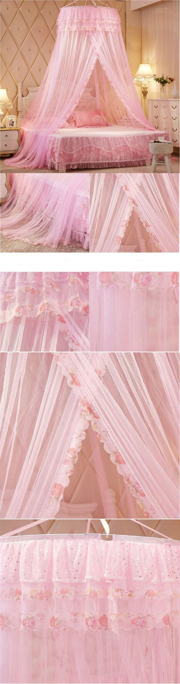 Canopies and Netting 48090: Princess Canopy Tent Bed Toddler Baby Girl Women Pink Sparkle Mosquito Net New -> BUY IT NOW ONLY: $43.99 on eBay!
