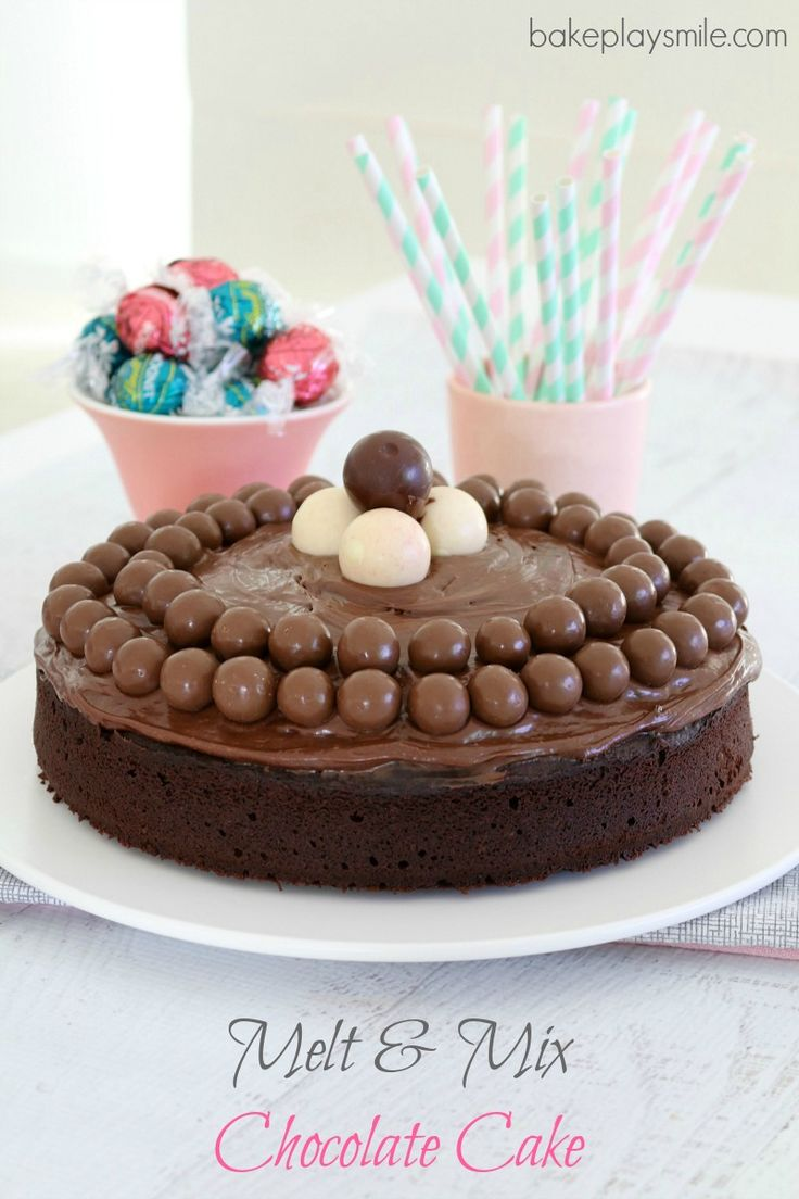 Donna Hay's Melt & Mix Chocolate Cake (No Mixer Needed!) - Bake Play Smile