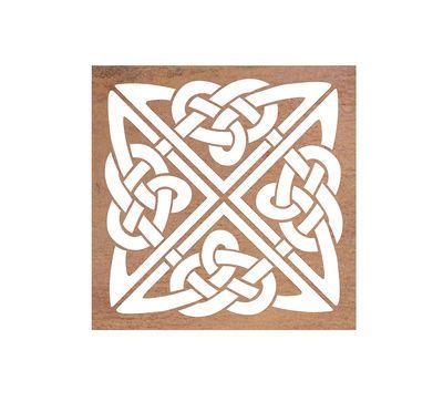 Mild Steel Wall Art - Celtic Square
