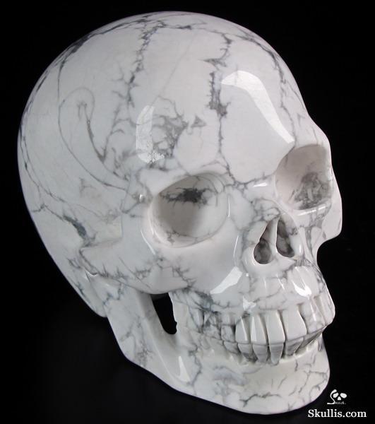 Howlite Crystal Skull