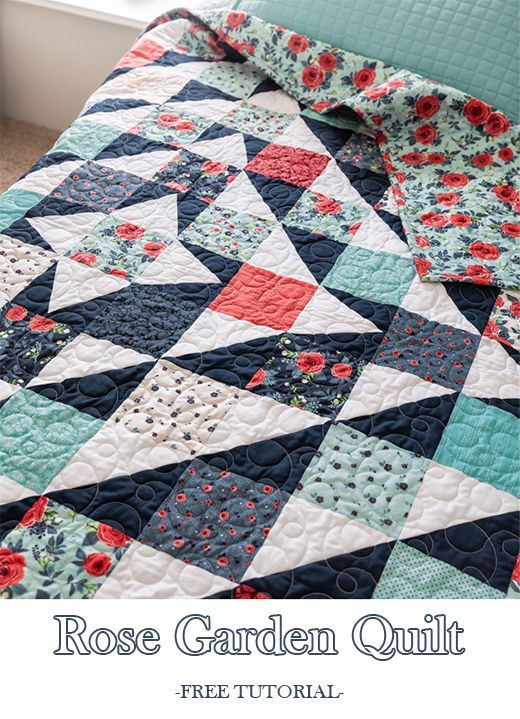 Rose Garden Quilt (Quilting Land) | Quilts to sew or just