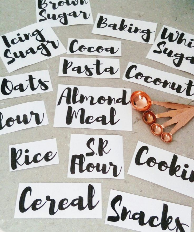 Pantry labels. Vinyl pantry labels. Set of 15 labels to organize your kitchen. Our labels come in 6 fonts and many colors  www.etsy.com/au/shop/everythingplaceau