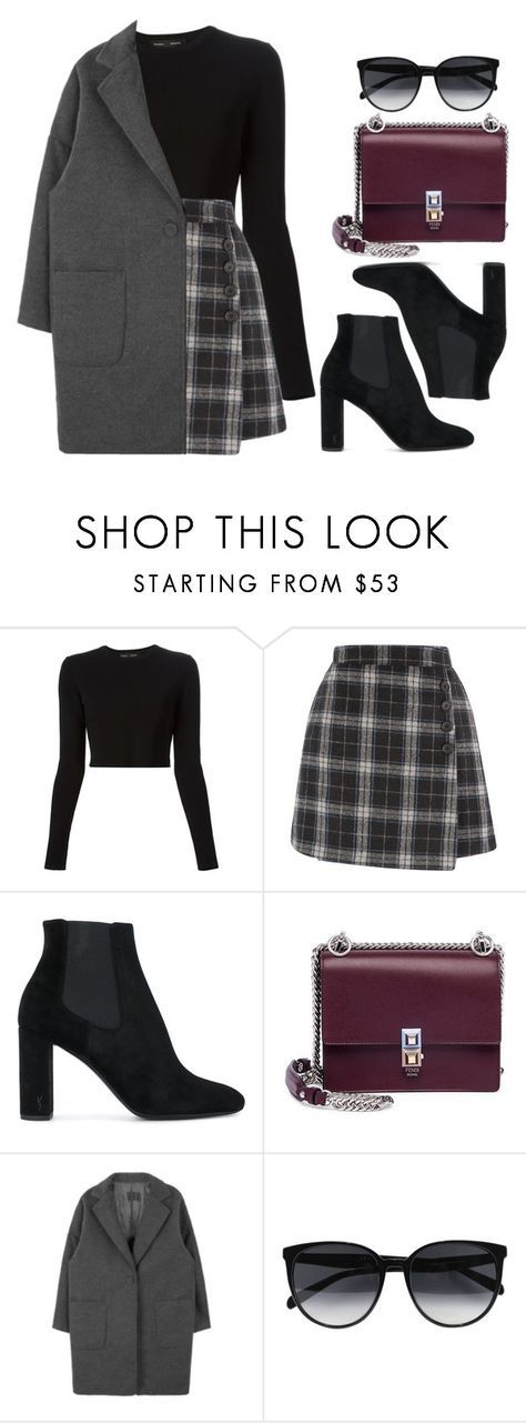 """""""Sin título #14326"""" by vany-alvarado ❤ liked on Polyvore featuring Proenza Schouler, Yves Saint Laurent, Fendi and CÉLINE"""